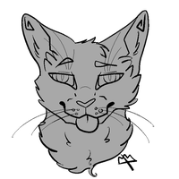 F2U Cat Lineart: Nyeaugh by septums
