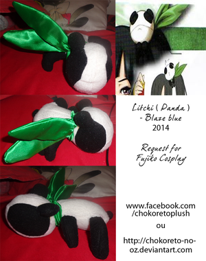 .: Plush Litchi ( Panda ) - Blazblue  :. by Chokoreto-No-Oz