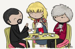 Jo Grant's Tea Party by gnasler