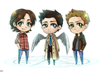SPN: Team Free Will by Jaskierka