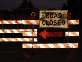 Road Closed Detour Signs 2 by FantasyStock