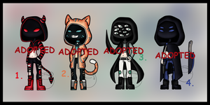 Offer to Adopt: Hooded Strangers (CLOSED) by Adopt-From-Frog