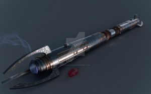 Darth Kration's Lightsaber -Commission- by MagyarEagle