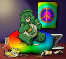 Hemp Heart Bear 4 20 by drakered