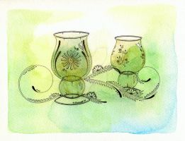 Two Crystals for Absinthe by NoraBlansett