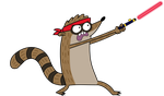 Rigby with a Laser by kol98