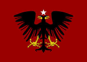 flag of Albania 1914-1920 by ShitAllOverHumanity