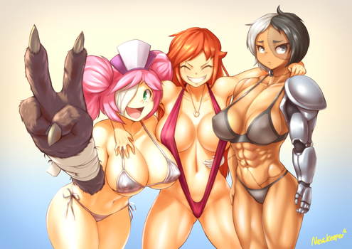 Dr.Creati and girls by Nestkeeper
