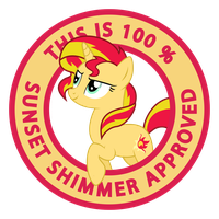 100 % Sunset Shimmer Approved by haselwoelfchen