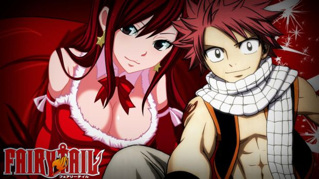 Fairy Tail :: Natsu x Erza :: Wallpaper by AngelShadow92