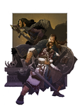 The Lords of Gondor: Aragorn and Boromir by hupao