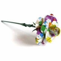 Paint Splatter Duct Tape Rose by DuckTape-Rose
