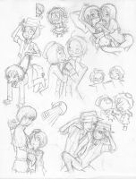 Axis Powers Hetalia Doodles by KingdomKeyblade