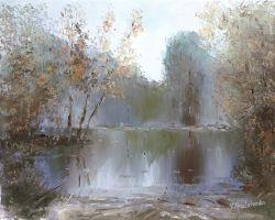 Autumn pond by flitart