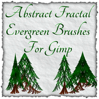Abstract Fractal Evergreen Brushes For Gimp by Xavasia