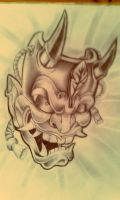 HANNYA MASK TATTOO by Malitia-tattoo89
