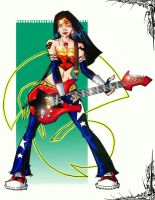 rock n roll wonder woman by jam-bad