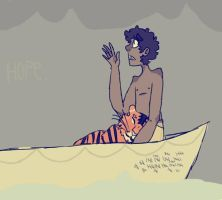 doodle- life of pi by modelsontherunway