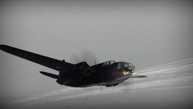 A-20 Havoc engageing by Orielee