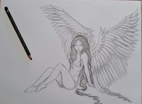 Angel drawing by CapellArt