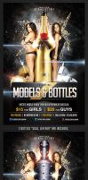 Models And Bottles Flyer Template by saltshaker911