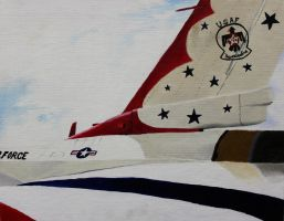 USAF Thunderbirds Tail by Kingtiger2101