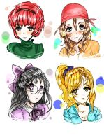 Harvest Moon Girls by kachi-kuu