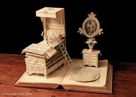 The Princess and the Pea Book Sculpture by KarineDiot
