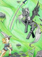 Final Fantasy VII-My Little Pony style by PeachDream