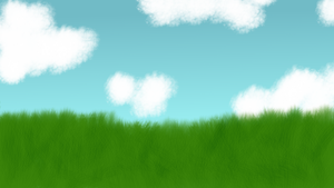 Free to Use - Cloudy Field Background by Kitta-Furen