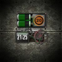 Animated Steampunk Clock for xwidget by jimking