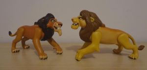 raring simba and scar action figuers by Khainon