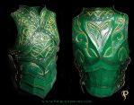 Green Elven Knight Cuirass by Azmal