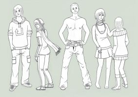 4schO.ol: Group of people I by Aiseiri