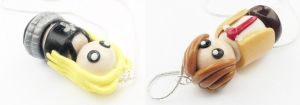 Light and Misa Charms by WTFcharms