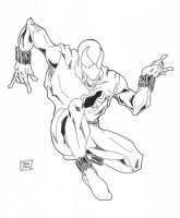 Scarlet Spider inks 1-1-09 by Glwills1126