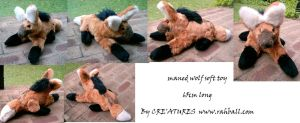 Maned wolf soft toy by Rahball