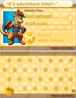 Roie Menard: PKMN Crossing NEW Application by BuizelCream