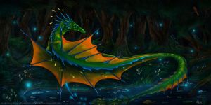 Rest at night the pond by HenryTarragon
