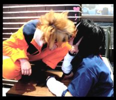 SasuNaru kiss Cosplay by slept