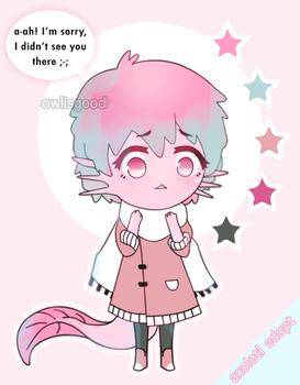 [CLOSED OTA] Axolotl Adoptable by owlisgood