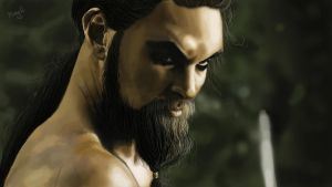 Khal Drogo - Game of Thrones by MaryInZombieland