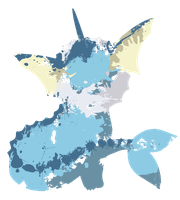 Vaporeon Paint Splatter Graphics by HollysHobbies