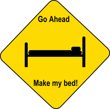 Go ahead, make my bed by Mutar