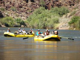 Rafters on Colorado River II by Synaptica
