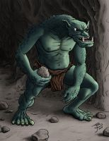 Rock Throwing Troll by BungZ