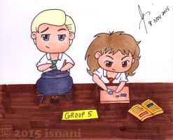 Dramione -- Potions Group by isnani