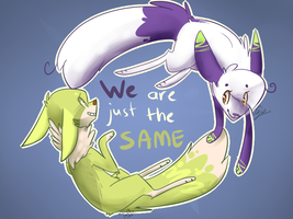 .:We are just the SAME:. by Fluff-puff