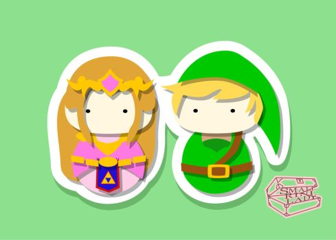 Zelda and Link by smallrinilady