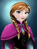 Anna from Frozen by Sugarsop